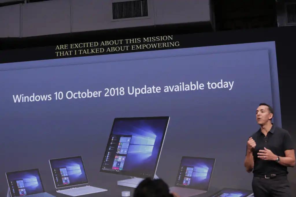 microsoft retira actualización de octubre
